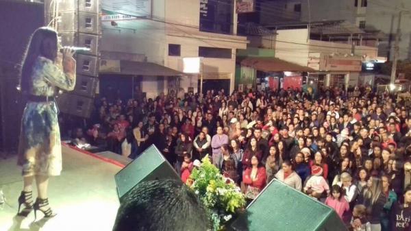 A festa começou no dia 25 e encerrou na noite deste domingo, 27/08 com a cantora Joelma Amaral com banda (foto:Divulgação)
