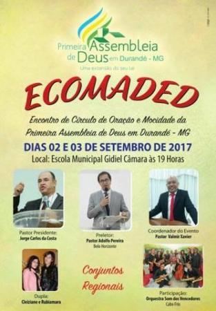 Assembleia de Deus irá realizar congresso em Durandé