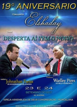 Assembleia de Deus de Carangola irá realizar congresso de jovens