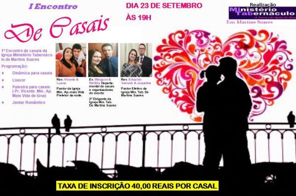 Igreja Tabernáculo de Martins Soares irá realizar 1º encontro de casais