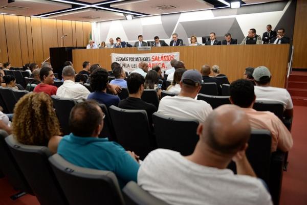 Comissão de Segurança Pública discutiu a política carcerária do Estado nesta terça (10) - Foto: Ricardo Barbosa