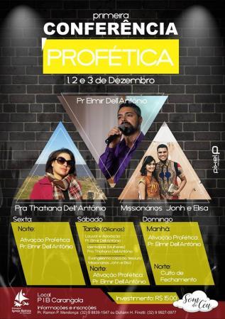 Primeira Conferência Profética acontecerá em Carangola