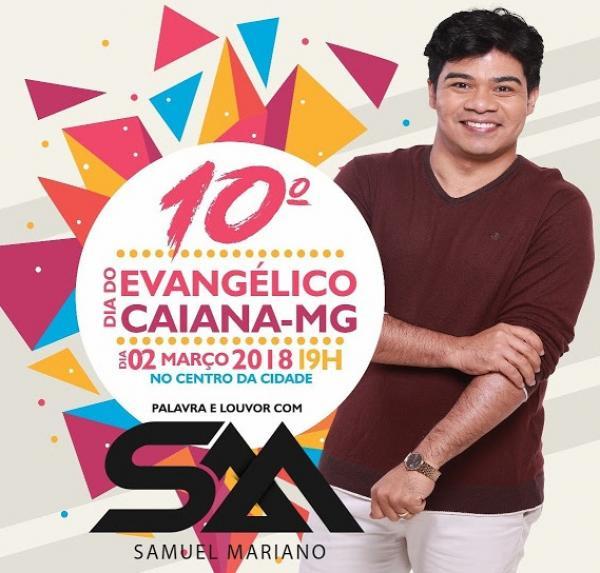 Caiana irá promover evento gospel com Samuel Mariano