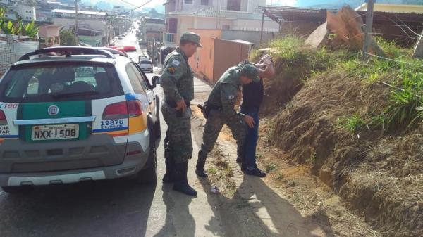 PM cumpre mandado de prisão em Alto Caparaó nesta segunda-feira