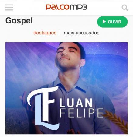 Cantor Luan Felipe é destaque na plataforma Palco Mp3