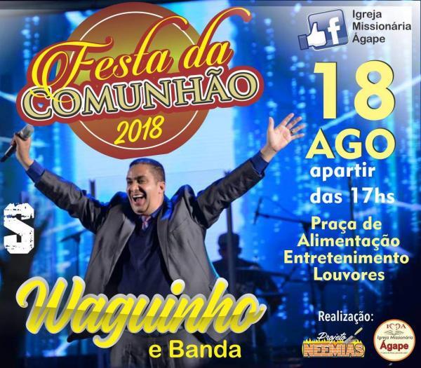 Cantor Waguinho estará em Manhuaçu na Festa da Comunhão