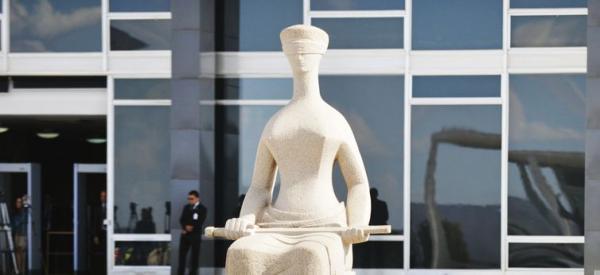 Estátua da Justiça em frente ao Supremo Tribunal Federal - José Cruz/Agência Brasil