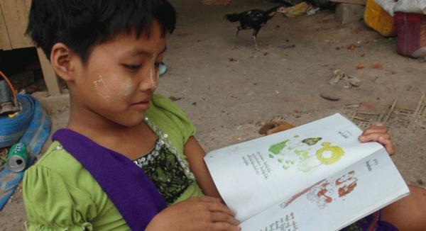 Impacto da alfabetização em etnia de Mianmar