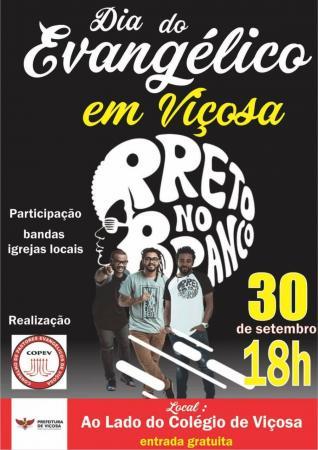O evento será no dia 30/09, presença de bandas e apoio das igrejas locais. A grande festa é promovida pelo COPEV com apoio do Governo municipal.