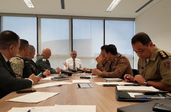 O primeiro dia do ano foi de trabalho e de alinhamento institucional para a cúpula da Segurança Pública do Estado.