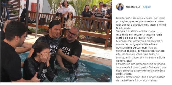 Genro de Silvio Santos se batiza em igreja mas não se considera evangélico