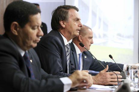 Jair Bolsonaro em primeira reunião ministerial - Marcos Corrêa/PR