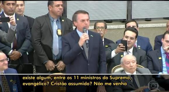 A declaração do presidente recebeu aplausos do público de um evento na Assembleia de Deus Ministério Madureira, em Goiânia.