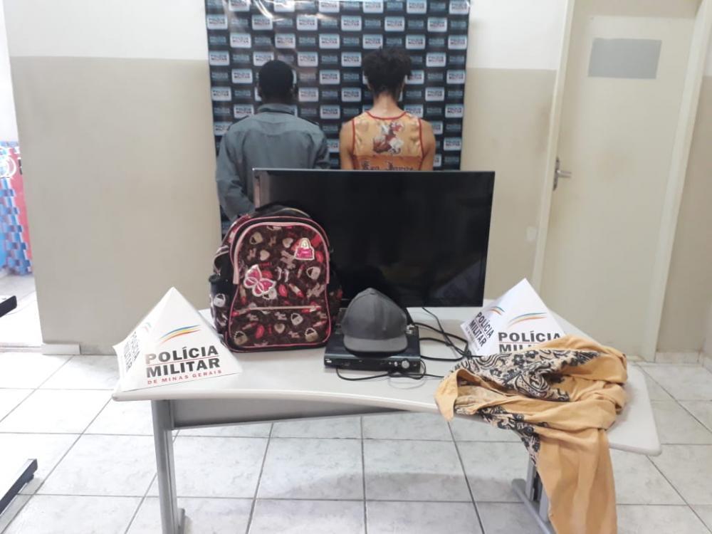 Os materiais roubados pela dupla foram localizados, agora os suspeitos estão a disposição da justiça.