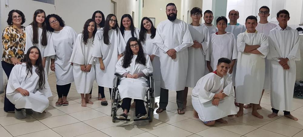 O culto de batismo aconteceu com a presença do pastor presidente, Jorge Corrêa e o pastor Júlio Pinheiro.