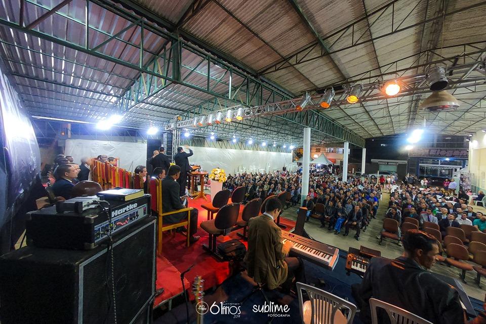 Começou a festa dos 61 anos da Assembleia de Deus em Divino (Foto/Divulgação)