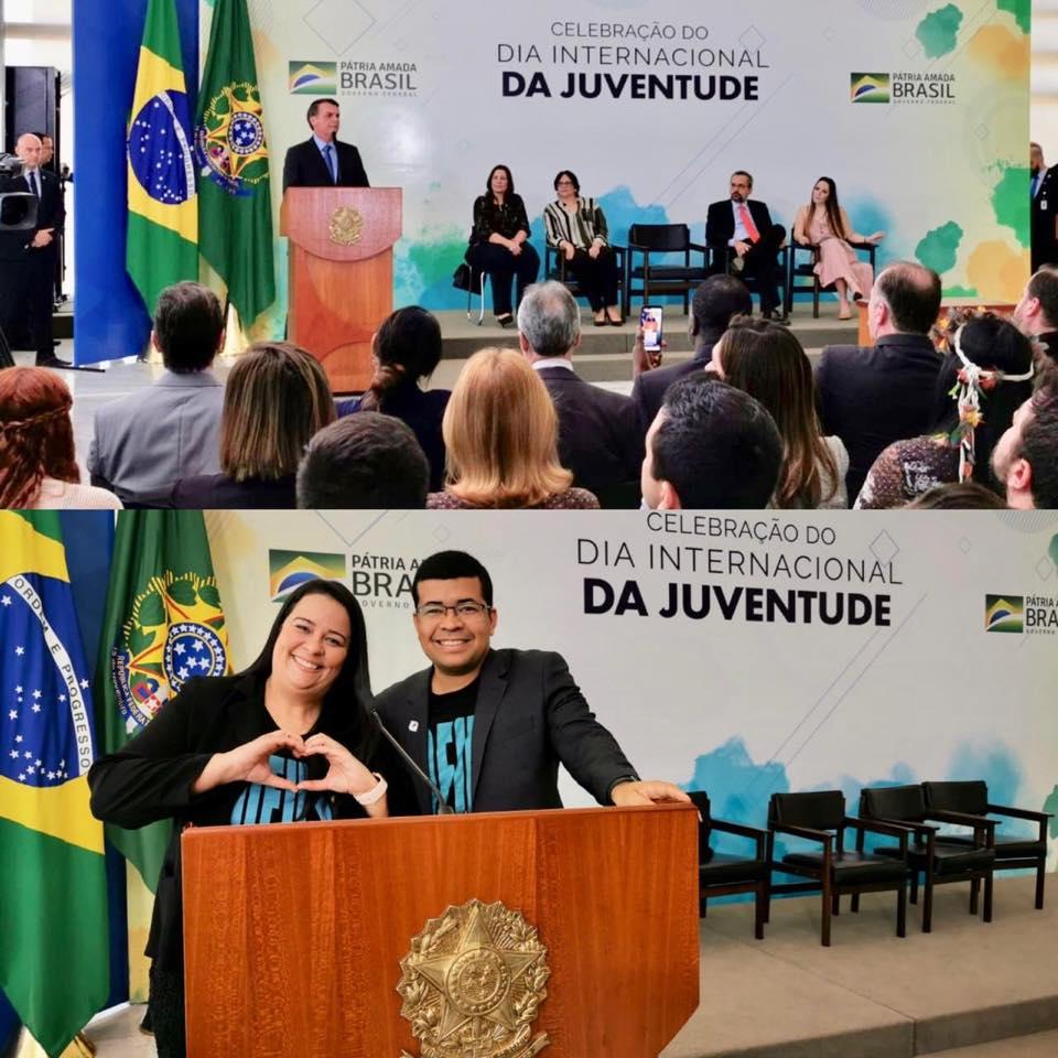 Várias autoridades estiveram presentes na comemoração, entre elas o ministro da Educação, Abraham Weintraub, a ministra da Mulher e Direitos Humanos, Damares Alves, entre outros